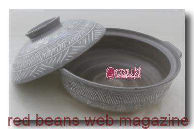 土鍋で煮る小豆