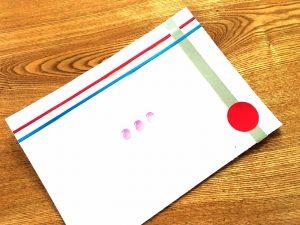 編集部の岡田尚子が、パリイベント報告会用に特別に、試食時につかっていただけるプレイマットもオリジナルでつくりました。日仏と小豆の融合を、ビジュアル化してます。