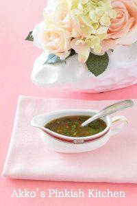パクチー醤油ドレッシングの小豆サラダ