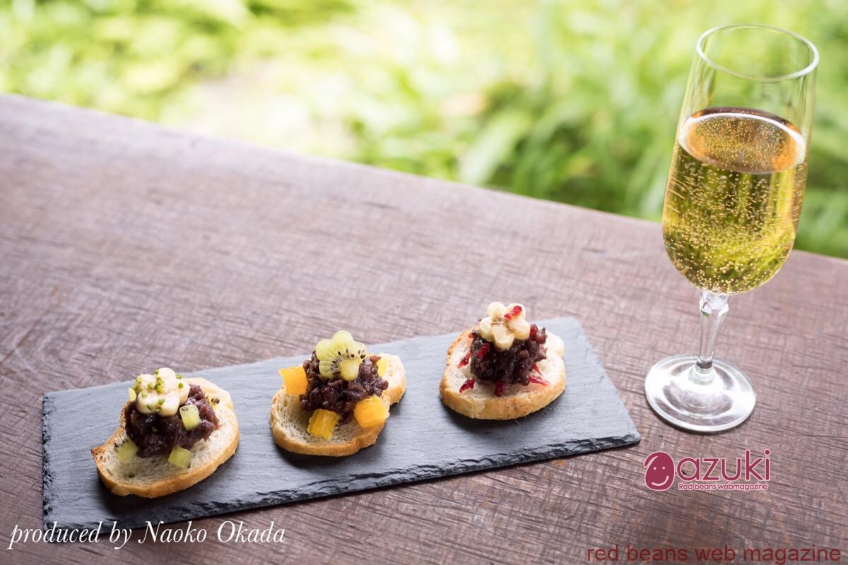 7/16イベント案内 スパークリングワインと小豆の食べ合わせを楽しむ会
