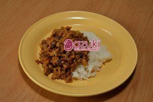 煮小豆レシピ カレー