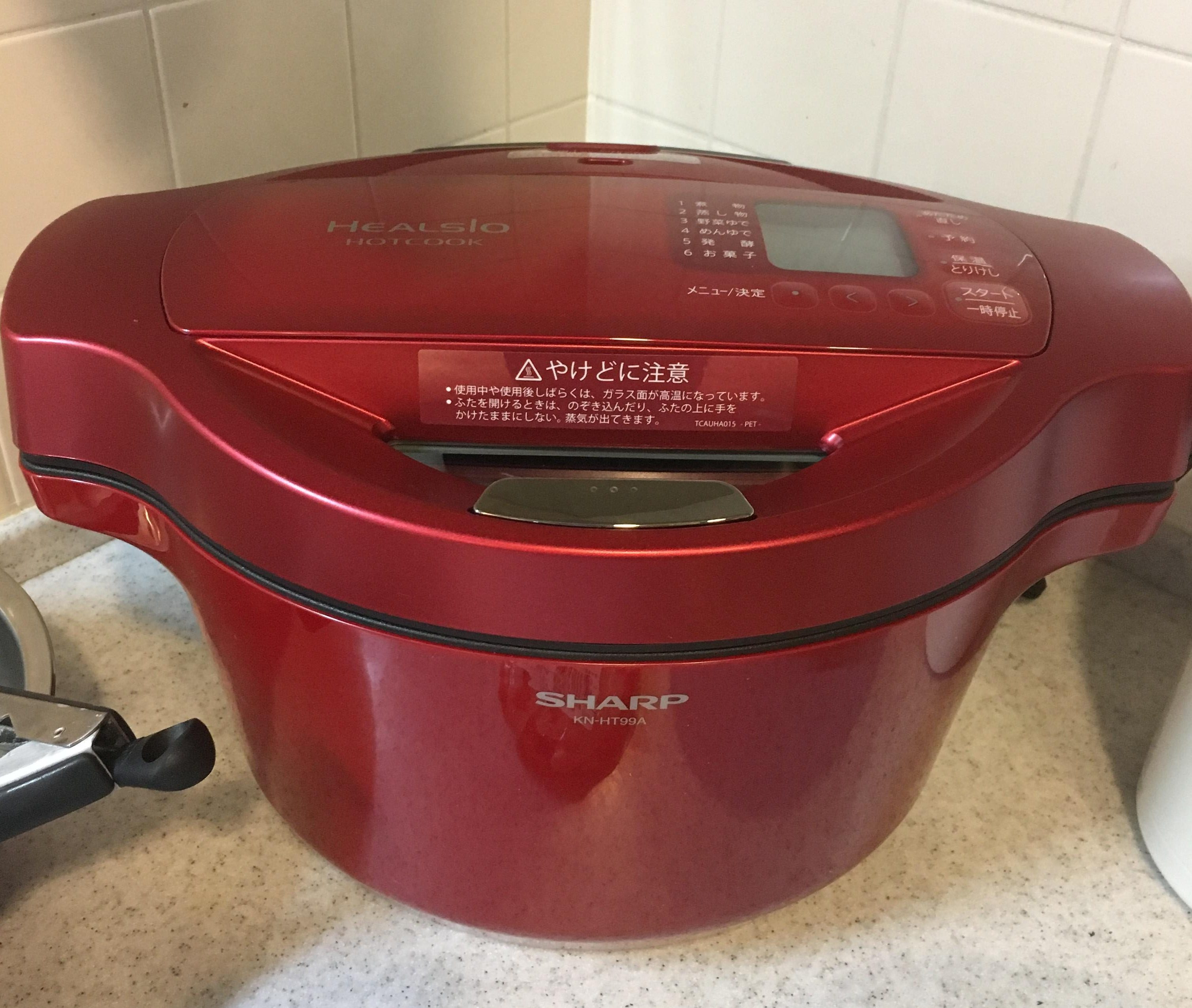 赤い自動調理なべホットクックはあんこが自動でつくれる調理機