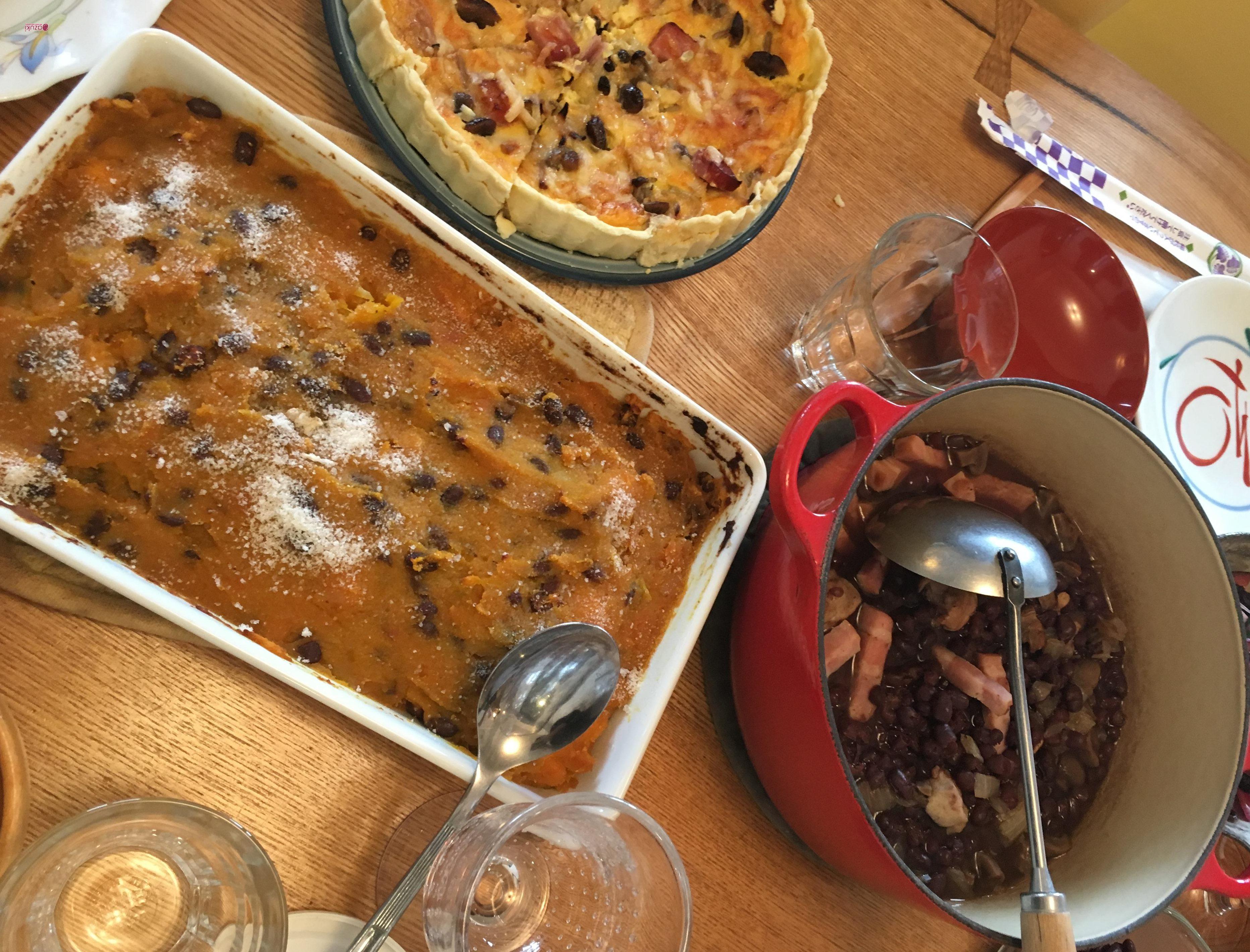 ゆで小豆のベーコン煮(ロジカルクッキング、普通鍋編)