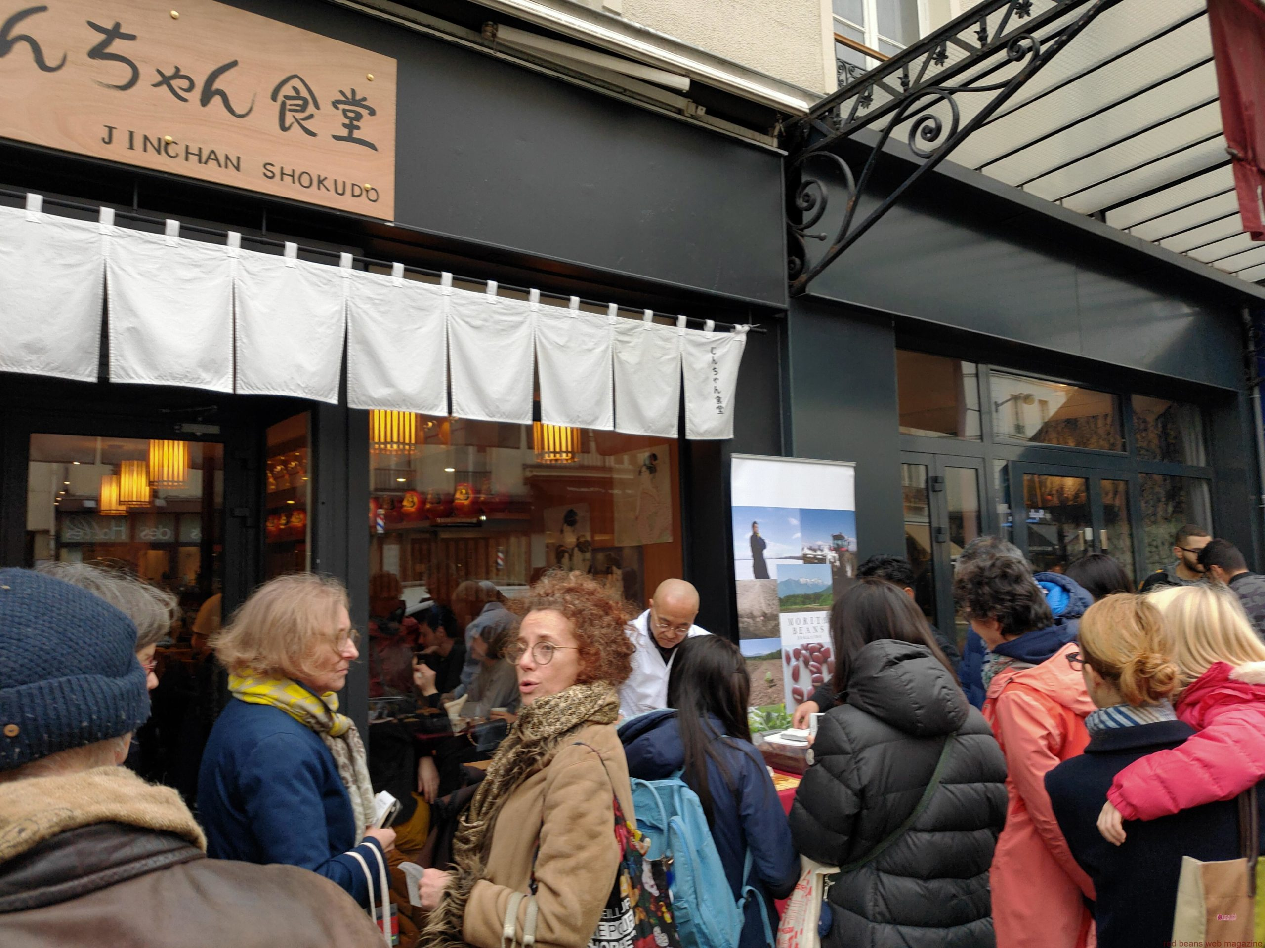 パリ-じんちゃん食堂でのどら焼きイベントに大行列
