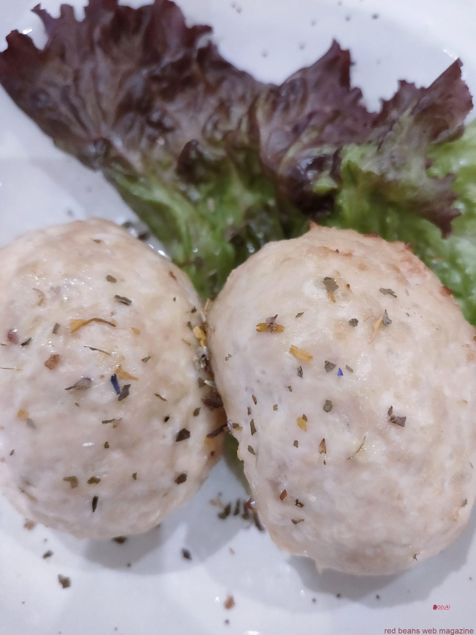 小豆の鳥ミンチボール